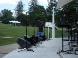 Devou Park ready for KSO vocalists.JPG