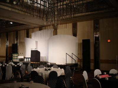 Chamber Orchestra fund raiser stage and stacks.JPG